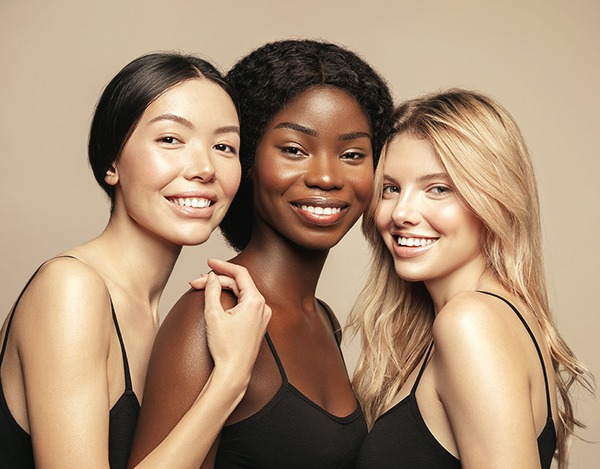 Three women posed together